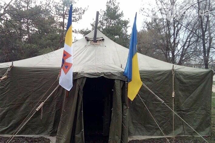 В Луганской области устанавливают палатки для приема больных с коронавирусом, фото-2