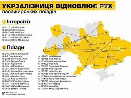 """""""Укрзализныця"""" возобновила движение поездов по Украине, фото-1"""