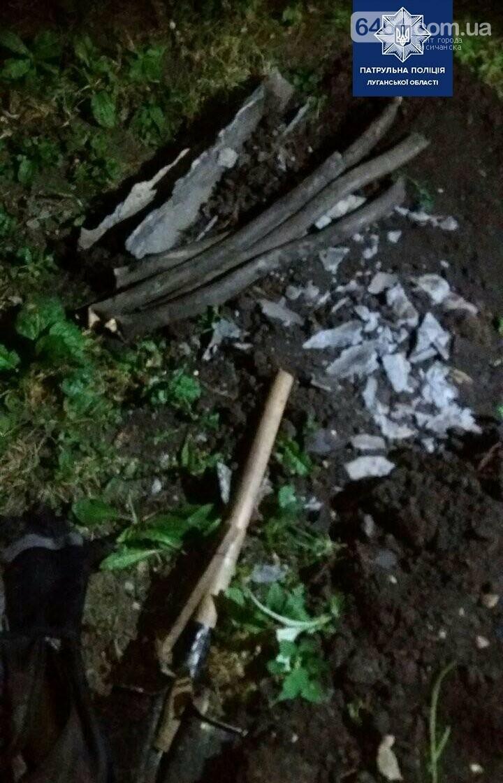 В Лисичанске патрульные задержали вора, который вырезал кабель на улице Октябрьской , фото-2