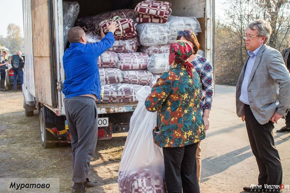 """Представители """"Оппозиционной платформы - За Жизнь"""" привезли помощь в пострадавшие от пожара населенные пункты, фото-24"""