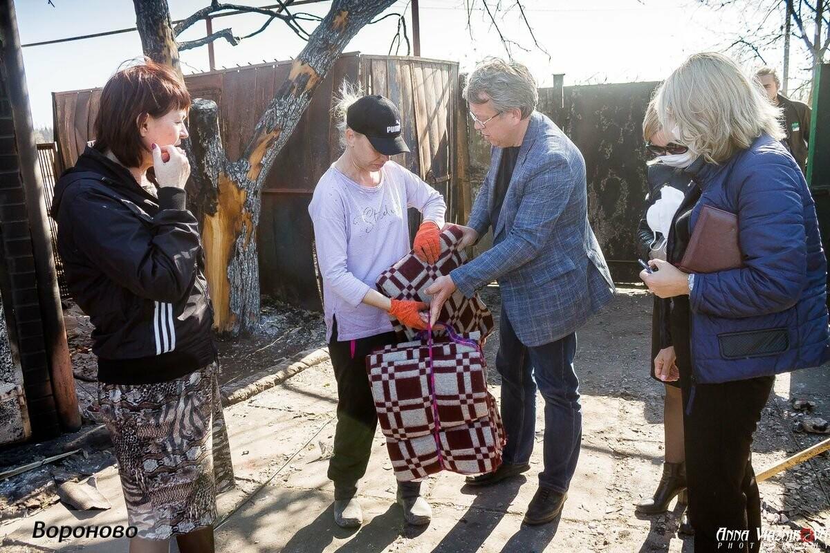 """Представители """"Оппозиционной платформы - За Жизнь"""" привезли помощь в пострадавшие от пожара населенные пункты, фото-93"""