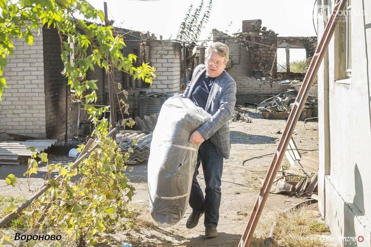 """Представители """"Оппозиционной платформы - За Жизнь"""" привезли помощь в пострадавшие от пожара населенные пункты, фото-113"""