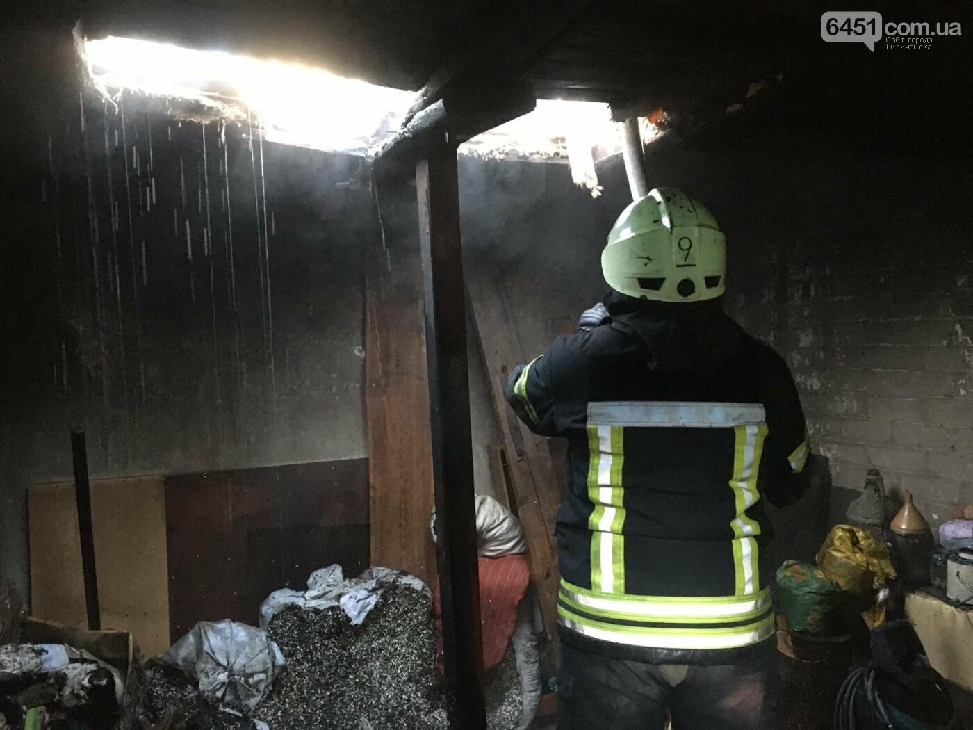 Спасатели ликвидировали пожар на частном дворе в Лисичанске, фото-1