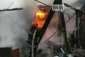 В Лисичанске сгорел дом в частном секторе, фото-1
