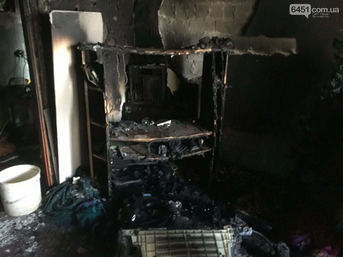 По причине неисправности телевизора в многоэтажке Лисичанска случился пожар, фото-1, ГУ ГСЧС в Луганской области