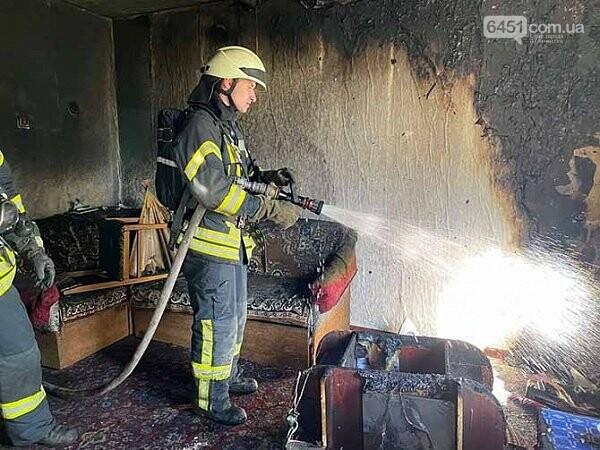 В Северодонецке возник пожар в девятиэтажном доме, фото-1