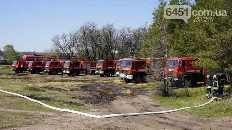 На Луганщине участники учений отрабатывали ликвидацию пожаров в экосистемах, фото-4, Пресс-служба ГУ ГСЧС в Луганской области